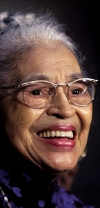 Rosa Parks at the 1999 ceremony honoring her with the Congressional Gold Medal