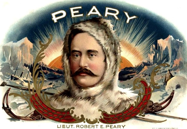 Cigar Box Label of Robert E. Peary: https://cigarlabelblog.wordpress.com/2011/03/